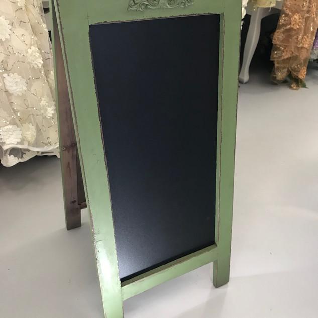 Chalkboard Sandwich Sign Green