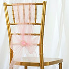 Organza Chair Sash Pink