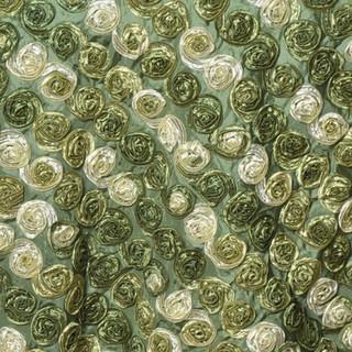 """72"""" Triple-Tone Mini Rosettes Willow Green Umbre"""