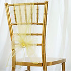 Organza Chair Sash Yellow