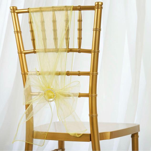 Organza Chair Sash Yellow