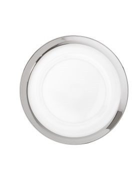 """Band Silver Clear Charger Plate 13"""""""