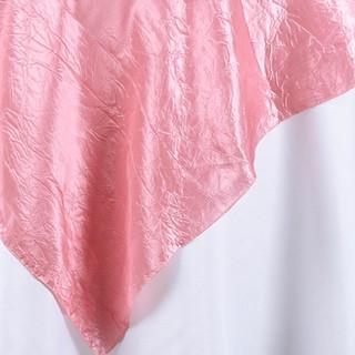 "72"" Taffeta Crinkle Overlay Rose Quartz"