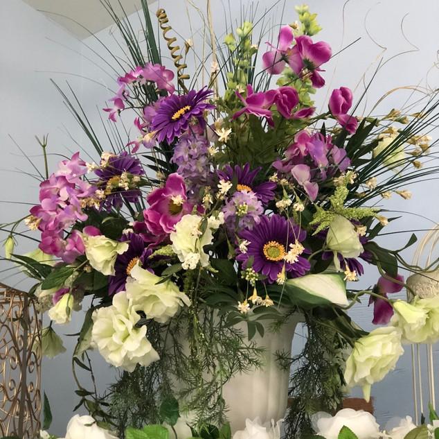 Wild Garden Flower Arrangement Purple