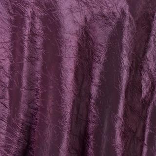 """72"""" Taffeta Crinkle Overlay Eggplant"""
