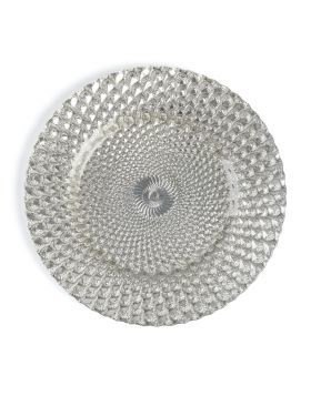 """Athena Silver Charger Plate 13"""""""