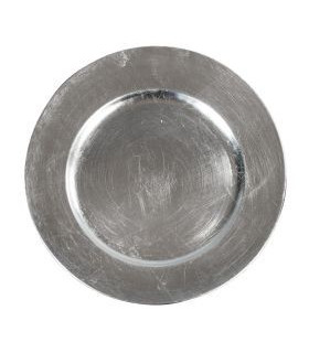 """Acrylic Silver Charger Plate 13"""""""
