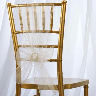 Organza Chair Sash White