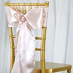 Satin Chair Sash Blush