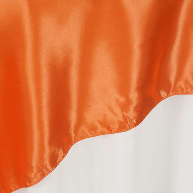 "72"" Satin Overlay Orange"