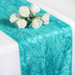 Taffeta Crinkle Runner Turquoise