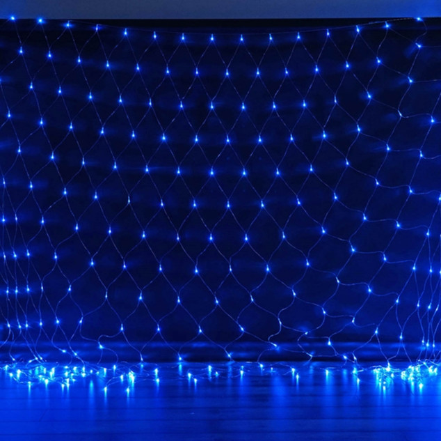 20FT 600 LED Sequential String Light Net Blue