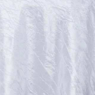 "72"" Taffeta Crinkle Overlay White"