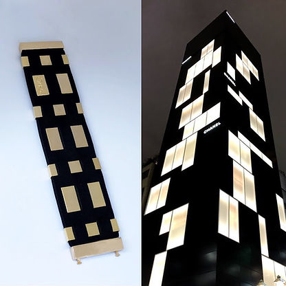 black neoprene bracelet inspiration comparison chanel building tokyo