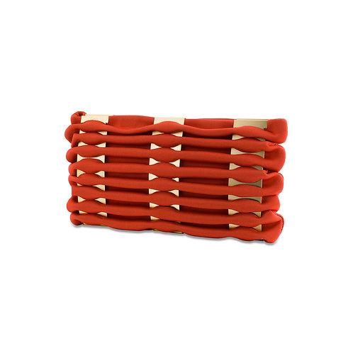WAVY CLUTCH - GOLD & RED