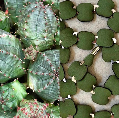inspiration comparison succulent green neoprene necklace orna - fine design