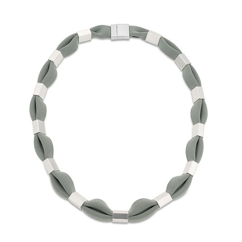 CYCLIC NECKLACE - SILVER TONE
