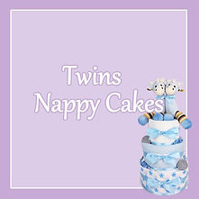 Baby Twins Nappy Cakes - Multiples newborn baby gifts