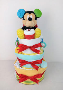Neutral Mickey Mouse Nappy Cake