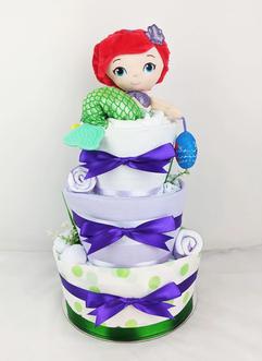 Baby Girl Ariel Nappy Cake