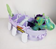 Baby Girl Dragon Boat Nappy Cake