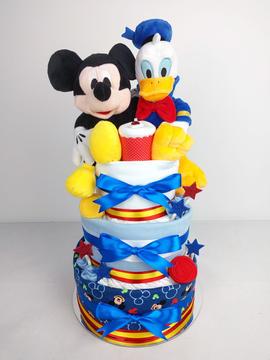 Disney Baby Boy Twins Nappy Cake - Plush Toys Unavailable