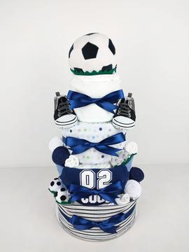 Baby Boy Soccer Nappy Cake