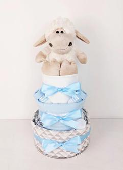Baby Boy Lamb Nappy Cake