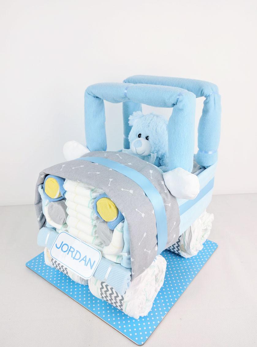 Baby Boy Nappy Jeep - Nappy hamper newborn gift brisbane sydney