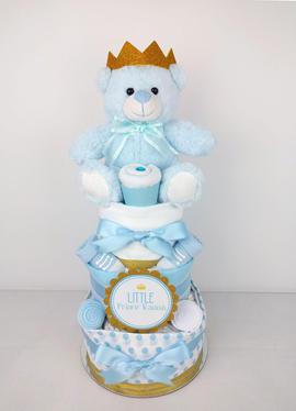 Baby Boy Little Prince Nappy Cake