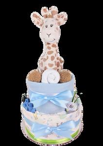Baby Boy Giraffe Nappy Cake - newborn baby gift hamper brisbane