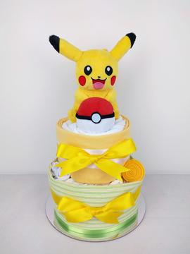 Neutral Unisex Pikachu Nappy Cake