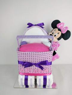 Baby Girl Minnie Mouse Nappy Pram