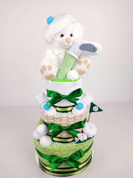 Little Golfer Nappy Cake