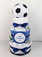 Baby Boy Soccer Nappy Cake - Nappy Cake Brisbane