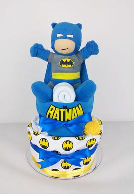 Batman Nappy Cake - Plush Toy Unavailable