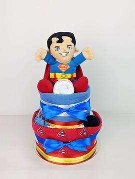 Superman Nappy Cake - Plush Toy Unavailable