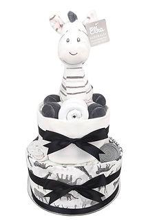 Neutral Unisex Baby Zebra Nappy Cake - Baby Gift Hamper Sydney