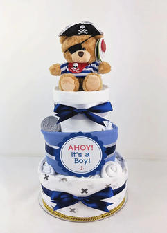 Baby Boy Ahoy Its a Boy Nappy Cake