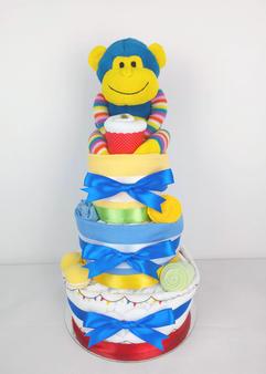 Baby Boy Circus Theme Nappy Cake