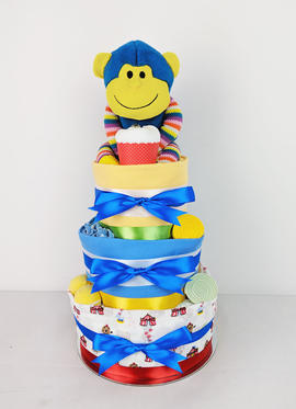 Circus Nappy Cake - Plush Toy Unavailable