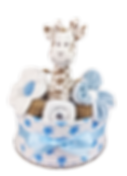 Baby Boy One Tier Jungle Nappy Cake - Nappy Cake Hamper Online Baby Gifts