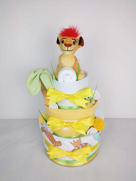 Lion King Nappy Cake - Plush Toy Unavailable