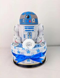 R2D2 Star Wars Nappy Cake