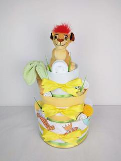 Neutral Lion King Nappy Cake