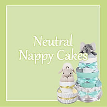 Neutral Unisex Nappy Cakes - Baby gifts for newborns