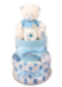 Baby Boy Spotty Blue Teddy Nappy Cake - Newborn Baby Gift Hamper Melbourne