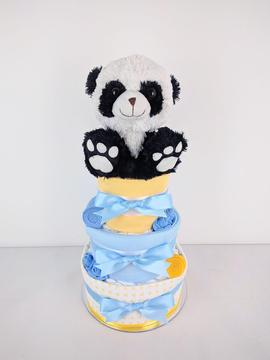 Baby Boy Panda Nappy Cake