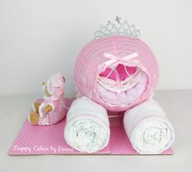 Princess Carriage Nappy Cake