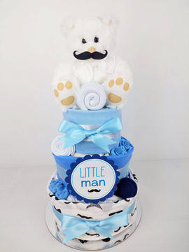 Baby Boy Little Man Nappy Cake